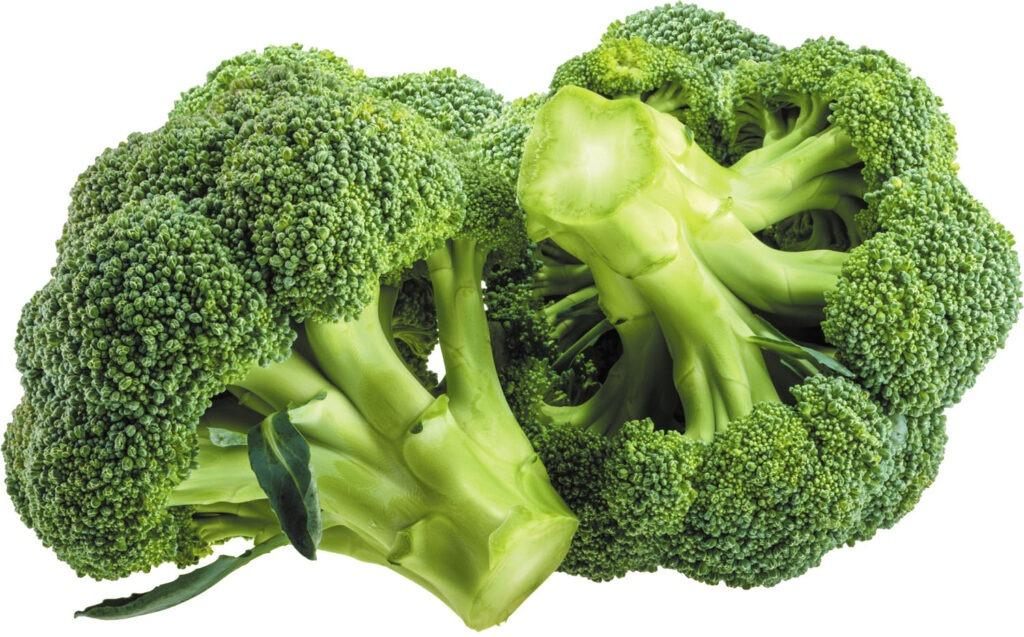 dva kusy brokolice